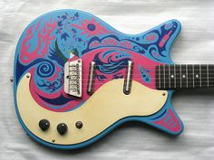 Spigool's Tumblr • Danelectro Painting. Love the art on this guitar. Gorgeous. #oneofakind #electric #guitar