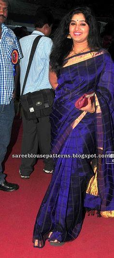 Want this saree so badly. Indian Attire, Indian Wear, Indian Outfits, Saree Color Combinations, Golden Saree, Tamil Girls, Saree Models, Saree Blouse Patterns, Kanchipuram Saree