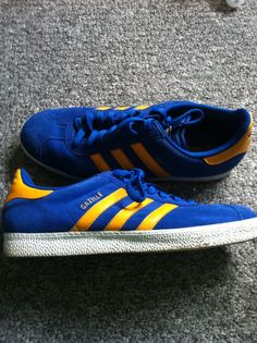 adidas gazelle blue and yellow