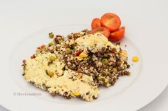 Quinoa-Vegetable Gratin with Bernaise Sauce