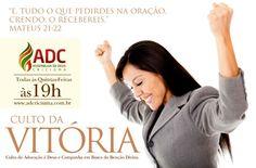 Campanha de divulgação do Culto da Vitória da Ad Criciúma