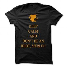 Dont be an Idiot, Merlin tee by Emerlyn - #tee verpackung #sweater ideas. MORE INFO => https://www.sunfrog.com/Valentines/Donampx27t-be-an-Idiot-Merlin-tee-by-Emerlyn.html?68278