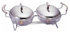 Constructed of the finest materials; 18/8 stainless steel and tempered glass dishes, this double chafing dish set is both elegant and functional. The double oval design allows you to display different dishes all while keeping them warm for your guests with the included tealight candles. The tempered glass dishes make for easy food preparation since they are freezer, microwave, oven and dishwasher safe.
