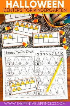 Make counting fun with these halloween themed math centers! Students will love counting the candy corn and mastering their cardinality and one to one correspondence! Easy to print and add to your math centers or assign as homework this fall!