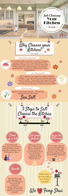Salt Cleansing the Kitchen - Unique Feng Shui