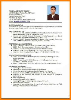 Top 5 Resume Formats For Freshers Job Resume Format Resume