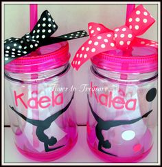 Personalized Gymnast Tumblers MOM Dance ballet by timestotreasure #craftshout 0208