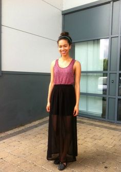 Sheer Black Maxi Skirt via Stockholm Streetstyle | Clothing ...