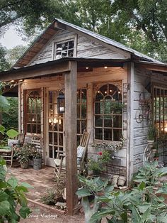 Jennys adorable garden shed made with reclaimed building materials | Living Vintage