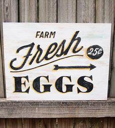 Farm Fresh Wood Sign. $72