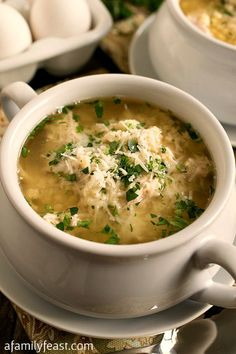 Turkey Stracciatella Soup - A classic Italian soup gets an update with leftover turkey!