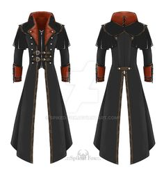 Leather trench-coat of western, steampunk, and dieselpunk influences and inspirations, all mixed up in a post-apocalyptic horror fashion. I plan on making this coat for myself as soon as I have the...