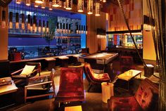 Hotel Gansevoort lobby in NY, design by ICrave