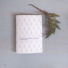 Image of mini journal with pines pattern minimalist botanical notebook