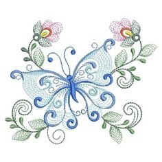 Rippled Dancing Butterflies 6 - 3 Sizes! | What's New | Machine Embroidery Designs | SWAKembroidery.com Ace Points Embroidery