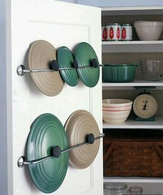 Idea for the back or maybe even the front of my pantry door.... To be thought about in more depth for sure!