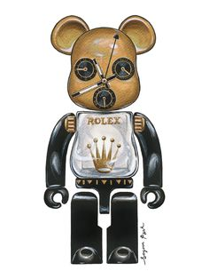 Bearbricks + Timepieces – The GROUND ROLEX_Bearbrick by SoYoon Park