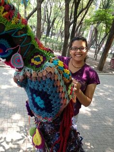 Cami from Art Like Bread is part of Mexico's yarnbombing group Ganchitos