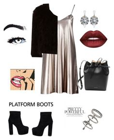 """""""Untitled #13"""" by nadia-al-1 ❤ liked on Polyvore featuring Boohoo, Jocelyn, Lime Crime, Mansur Gavriel and Miss Selfridge"""
