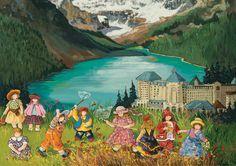 Casse-tête Pauline Paquin - Lac Louise - Un casse-tête idéal pour les passionnés de l'art! #Puzzle #Cassetête #Jeux #Jouets #Québec