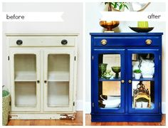 Someone I live with doesn't believe in painting wood but this is a great way to refresh a scuffed up painted finish. Refreshing furniture with spray paint (before and after). #repainting #decorating