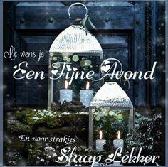 Fijne avond Blessed Night, Good Night, Christmas Ornaments, Holiday Decor, Facebook, Gold, Nighty Night, Christmas Jewelry, Christmas Decorations