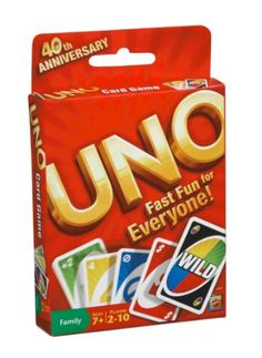 Uno -- I spent many pleasant hours playing this game with friends when I was in college.