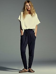 To die for ruched Harem pant- very slimming for calves
