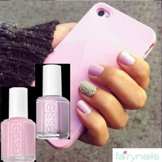 Manicure in sweet pink shades at Fairynails!