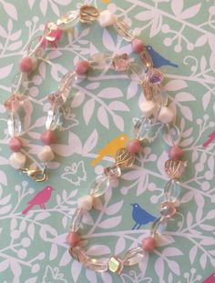 Pastel pink Glass Bead Necklace £6.50