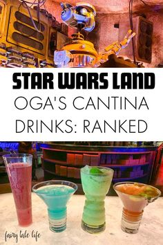 Oga's Cantina Drinks Ranked from Best to Worst - This Fairy Tale Life - - Looking to visit Oga's Cantina inside Star Wars: Galaxy's Edge? Here is my official ranking of their cocktail concoctions! Viaje A Disney World, Disney World Tipps, Disney World Tips And Tricks, Disney Tips, Best Disneyland Food, Disneyland Vacation, Walt Disney World Vacations, Disneyworld Food, Disneyland Dining