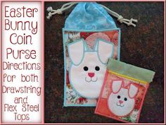 Easter Bunny Coin Purse Machine Embroidery Designs http://www.designsbysick.com/details/easterbunnycoinpurse