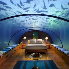 Underwater bedroom at contad maladives!