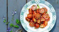 Små tomater med persiljevinägrett