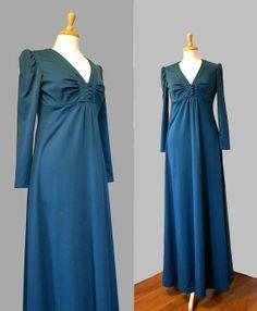 1970's  Dress / Polyester Maxi / Boho Granny by DuncanLovesTess, $36.00 #vintage #fashion #boho #etsy