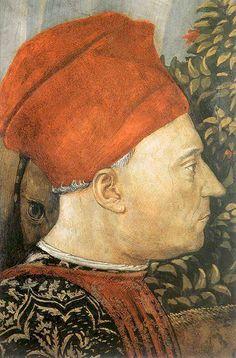 Benozzo Gozzoli, The Magi Chapel in Palazzo Medici Riccardi of Florence, detail, depicting the head of Giovanni di Piero De' Medici, also called 'il gottoso'.