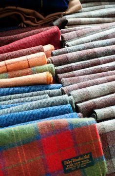 Colourful Tartan Scarves ~ Islay Wool Mill, Islay, Scotland