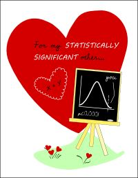 Nerdy statistics Valentine for science geeks!
