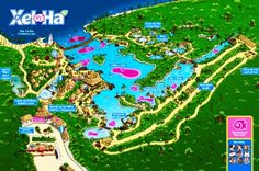 Map of Xel Ha and all its attractions
