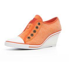 Fab.com   Britt Wedge Sneaker Orange