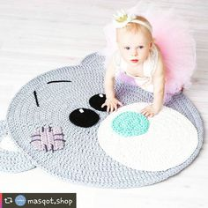 "Inspiração dos sonhos antes de ""mimi"" @masqot.shop #crochetinspiration #knittinginspiration #tapeteartesanal #tapeteurso #babyroom #roomdecor #babydecor #inspiration #tshirtyarn #fiodemalhaecologico"