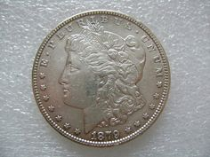 1879 Morgan silver dollar American coin #Coins #GoldCoins #Silver #Coins #USCoins #TheHappyCoin