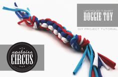 Make a Recycled T-shirt Dog Toy - Dollar Store Crafts