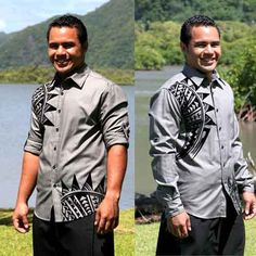 Samoan Style Shirt for my husband to be and his best man and groomsmen
