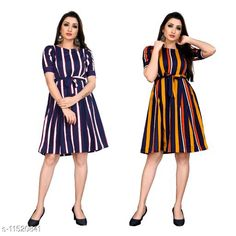 Checkout this latest Dresses Product Name: *Trendy Fancy One Piece Dress With Belt* Fabric: Poly Crepe Sleeve Length: Short Sleeves Pattern: Printed Multipack: 2 Sizes: XS, S (Bust Size: 36 in, Length Size: 37 in)  M, L, XL Country of Origin: India Easy Returns Available In Case Of Any Issue   Catalog Rating: ★4 (242)  Catalog Name: Free Mask Stylish Feminine Women Dresses CatalogID_2167743 C79-SC1025 Code: 994-11520841-0441