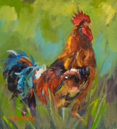"""Fun painting from Anita Mosher, NOAPS Signature Artist from Colorado. """"A brilliant use of color and exuberant strokes across the canvas"""" is a great way to describe this painting. This small and fun artwork titled """"Rioja"""" , oil 10x8, is part of the upcoming Signature & Master Show 2016  http://www.noaps.org/html/sa_exhibitions.html"""