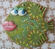 Поделка изделие Лепка Гламурная рыбка Тесто соленое фото 1
