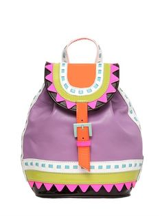 SOPHIA WEBSTER - ZIGGY ORCHID LEATHER BACKPACK - LUISAVIAROMA