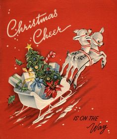 A Vintage Christmas with Mickey O'Toole Vintage Christmas Images, Old Christmas, Old Fashioned Christmas, Retro Christmas, Vintage Holiday, Christmas Pictures, Christmas Crafts, Vintage Greeting Cards, Christmas Greeting Cards