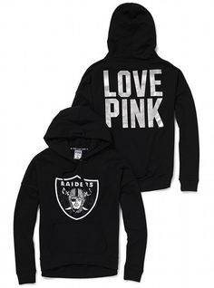 Raiders Bling Sweatshirt...want!Victoria's Secret PINK Slouchy Bling Hoodie #VictoriasSecret http://www.victoriassecret.com/pink/oakland-raiders/slouchy-bling-hoodie-victorias-secret-pink?ProductID=80754=OLS?cm_mmc=pinterest-_-product-_-x-_-x